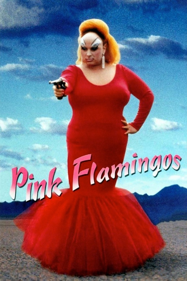 pink flamingos portada